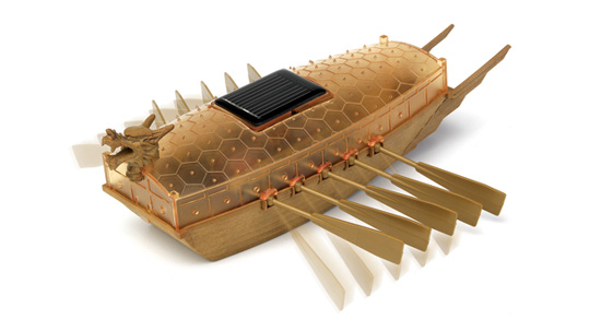 Solar power turtle ship
